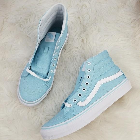 a4bbe1e733d1e5 Vans Sk8-Hi Slim in Crystal Blue Size 9 NIB